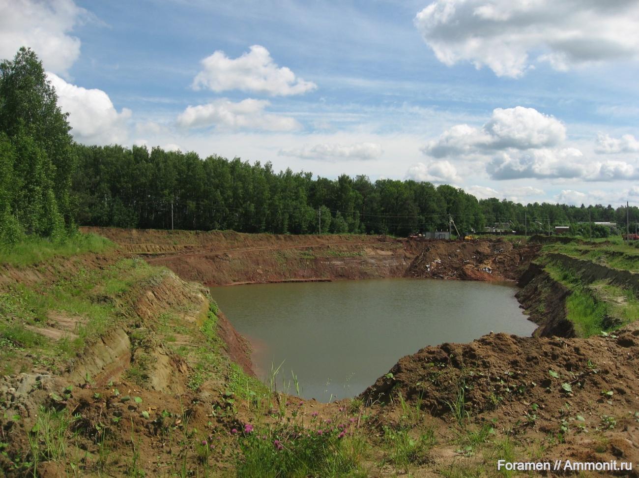 Россия тайга / леса умеренного пояса   ландшафты Гжельский глиняный карьер